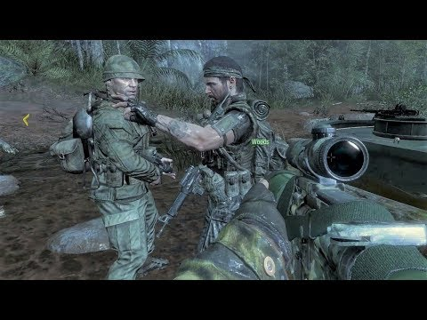 Searching for Nova 6 in the Laos Jungle - Boat Mission - Crash Site - Call of Duty: Black Ops