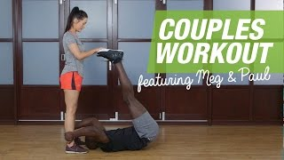 6 fun partner exercises to try now | No weight couples workout