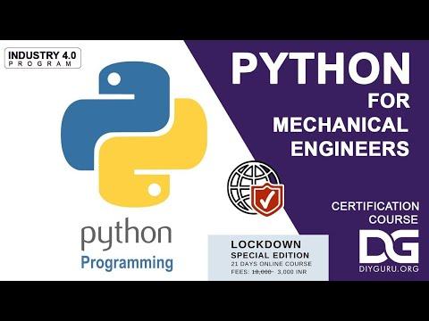 Introduction to Python for Mechanical Engineers | DIYguru