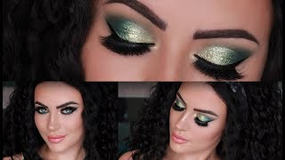 New Year's Eve Makeup Series Sparkle green