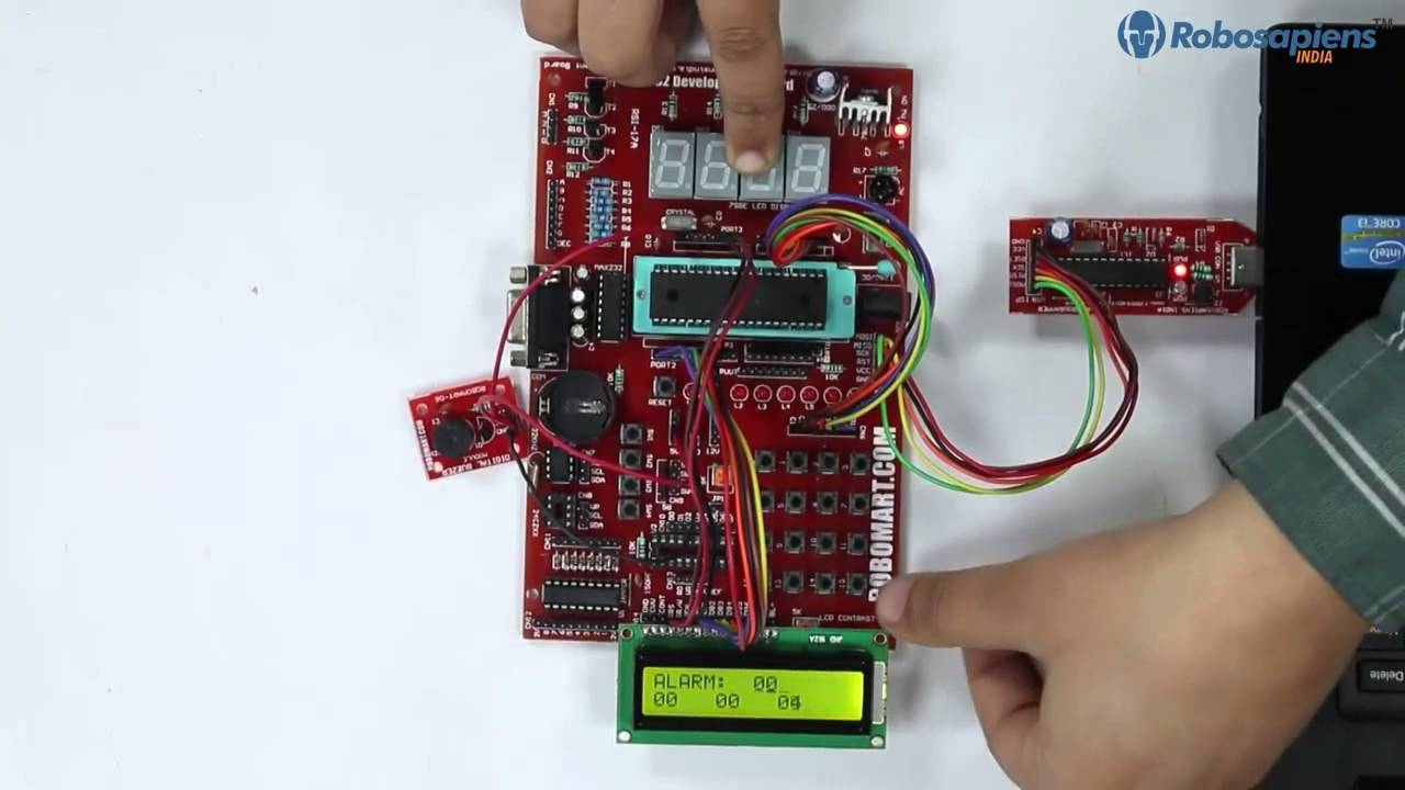 Digital Clock With Alarm using 8051 Development Programme