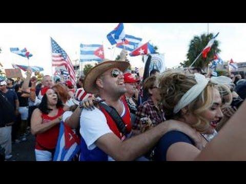 Cuban exile community in Miami reacts to Fidel Castro death