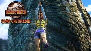 Escaping the Mosasaurus Pool | JURASSIC WORLD CAMP CRETACEOUS | NETFLIX