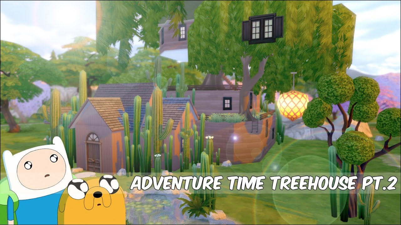 Urban treehouse sims 4 houses - Sims 4 Adventure Time Treehouse Challenge Speed Build Part 2