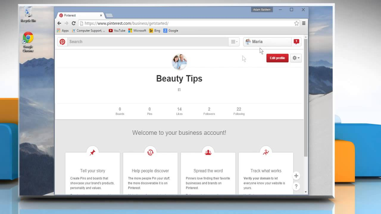 How to convert your personal account to a business account on Pinterest™