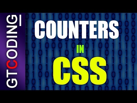 Counters In CSS | Web Designing Tutorial