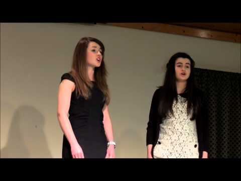 Hallelujah sung by Nicola & Abbey in beautiful harmony.