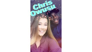 Chris Owusu does my makeup!!