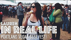 PORTLAND VEGAN BEER FEST | Lauren In Real Life