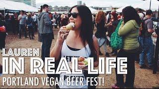 Video PORTLAND VEGAN BEER FEST | Lauren In Real Life download MP3, 3GP, MP4, WEBM, AVI, FLV Juli 2018