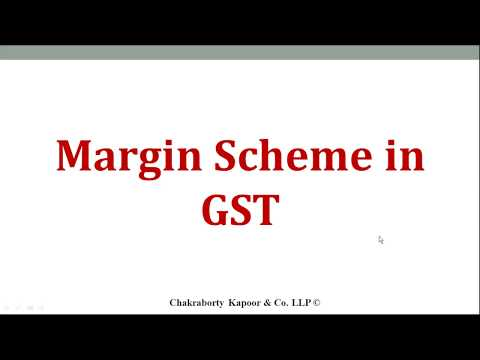 Margin Scheme in GST - For Second Hand Goods Dealer in Hindi Rule 32(5) of CGST