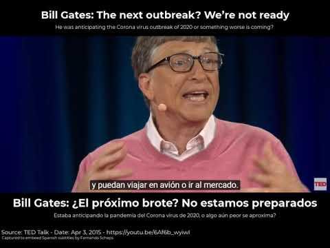 Bill Gates avisóde una crisis como la del coronavirus