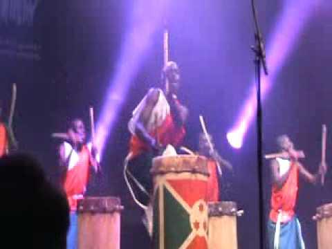 The Royal Drummers of Burundi at WOMAD Abudhabi 2010 Part 1