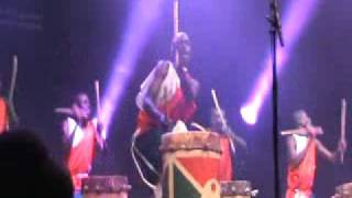 The Royal Drummers of Burundi at WOMAD Abudhabi 2010 Part 1