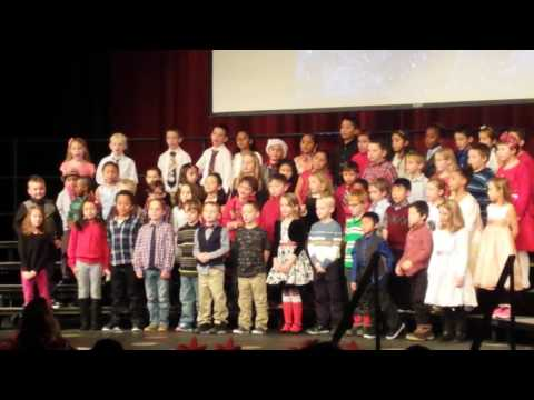 """Gegan and Banta Elementary schools present: 1st grade. """"A silly winter song."""""""