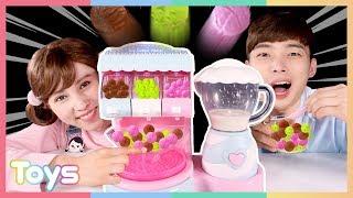 구슬 아이스크림 메이커로 복불복 게임 놀이| 캐리와장난감친구들