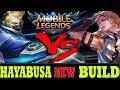 HAYABUSA NEW BUILD VS LANCELOT OP HERO #17 - Mobile Legends