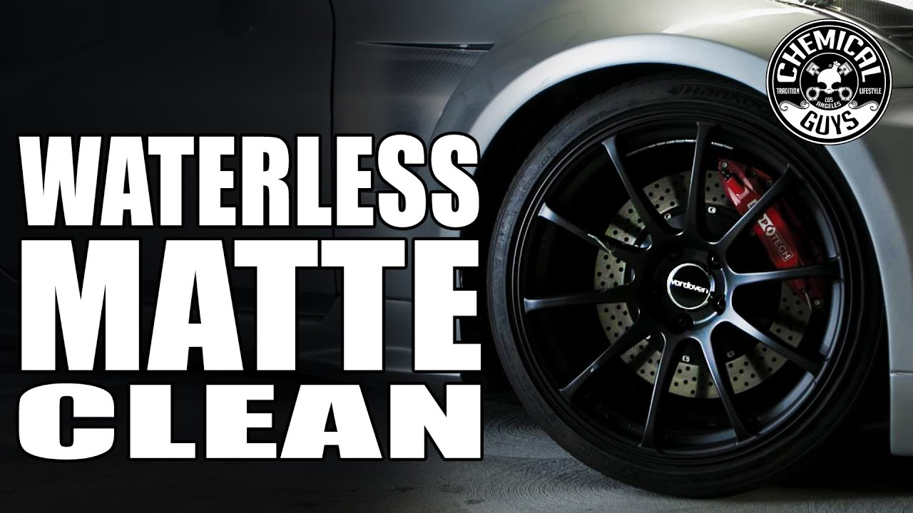 Guys Working On Cars >> Clean Matte Wheels Without Water - Chemical Guys EcoSmart - YouTube