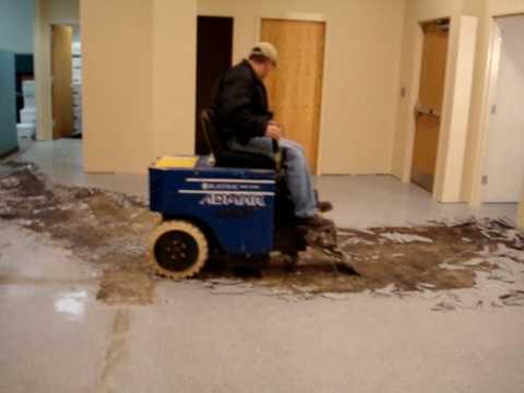 blastrac bms220 electric floor tile stripper - youtube