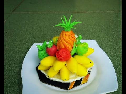 """How To Create A Fruit Platters From Rice Flour - """"Tò He"""" Art"""