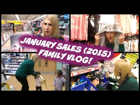 UK Family Vlog! Shopping in the January Sales!