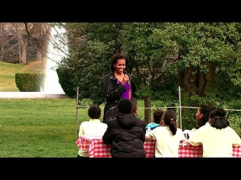 First Lady Michelle Obama Hosts White House Garden Spring Planting Youtube