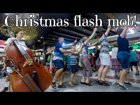 christmas mall flash mob
