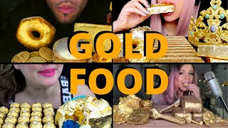 Rating Gold Themed ASMR Foods