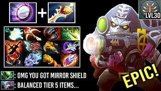 EPIC Divine Rapier + Mirror Shield Sniper 30 Level 18 Items Crazy Def vs Ballista Viper 7.23 Dota 2