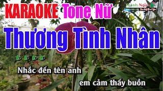 Thương Tình Nhân Karaoke 9587 | Tone Nữ - Nhạc Sống Thanh Ngân