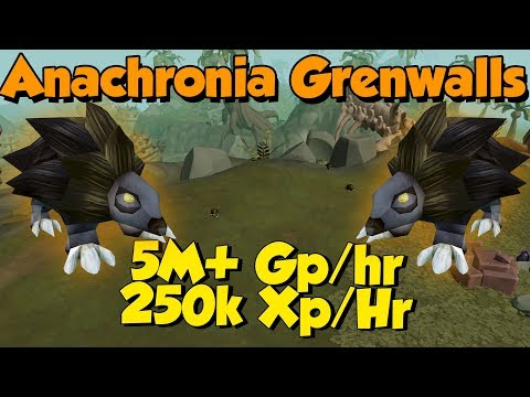 (Updated Guide In Desc) Anachronia Grenwall Hunting For GP! [Runescape 3] 5M+ Gp/Hr!