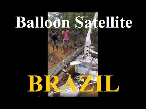 Satellite crashes in Brazil - attached to a balloon - Nasa lies, research Flat Earth ✅
