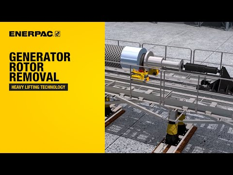 Generator Rotor Removal and Installation System   Enerpac Heavy Lifting Technology