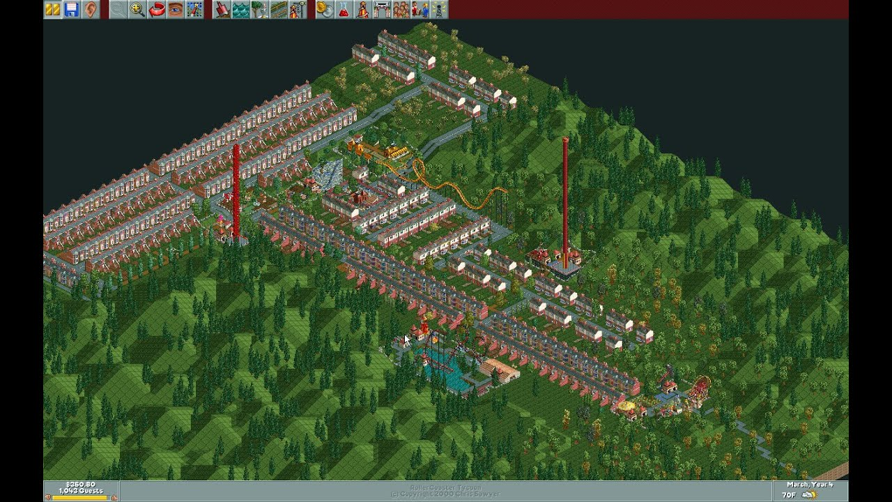 roller coaster tycoon how to raise park rating