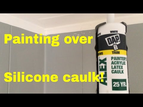 How to paint over silicone caulk - YouTube