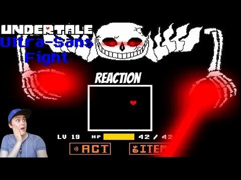 Undertale - Ultra-Sans Fight (Fan-made)   REACTION