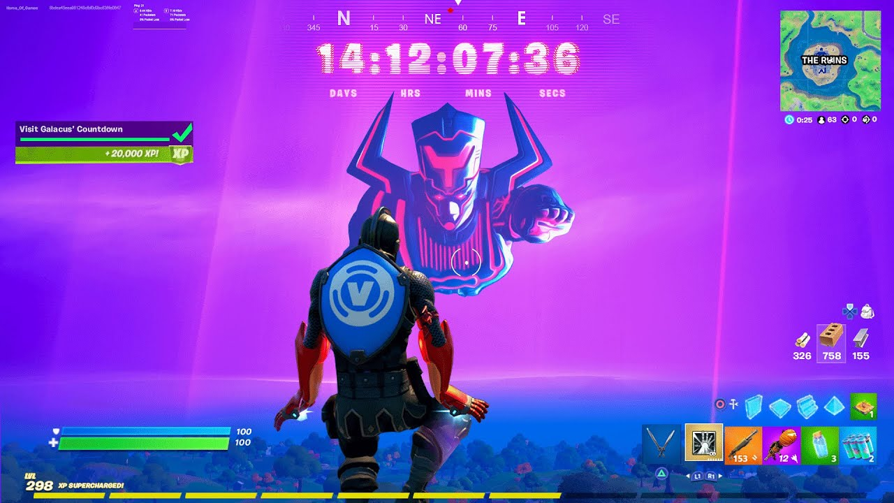 Galactus Event Live In Fortnite Youtube Galan or (aka galactus or the devourer of worlds) is a cosmic entity who originally consumed planets to sustain his life force, originating from the marvel universe earth 616. galactus event live in fortnite