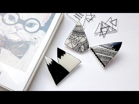 DIY Brooch | Stylish Mountains - Polymer Clay Tutorial