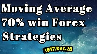 Moving Average Strategy Single line 70% win Strong Forex Strategies (2017.Dec.28)