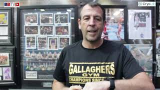 EMOTIONAL JOE GALLAGHER LOOKS BACK AT THE IMPACT OF BOXING TRAINER PHIL MARTIN RIP