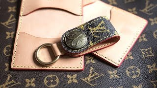 Making a DIY Louis Vuitton Keychain