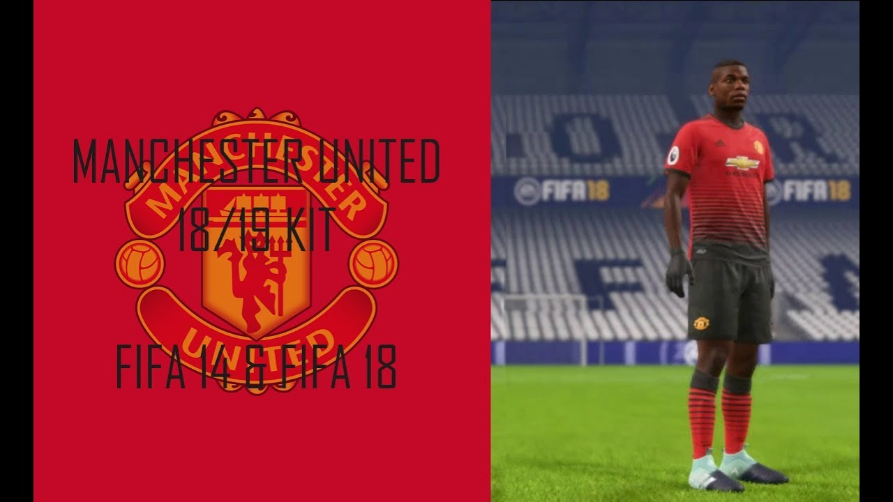 c13865ae7 Manchester United 18-19 Home Kit (Official Version)  FIFA 14   FIFA ...
