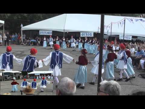 Greek folklore dancing at Sts Constantine and Helen festival
