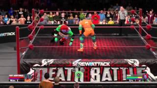 WWE 2K16 CAW Fight