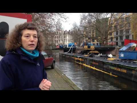 Betere doorstroming water Singelgracht Spinozabrug Amsterdam