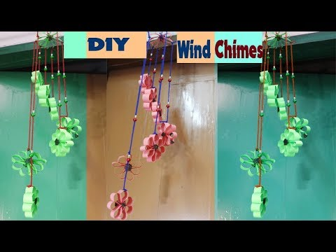 Paper Wind Chimes | How to Make Wind Chime out of Paper | Handmade Paper Wind Chime