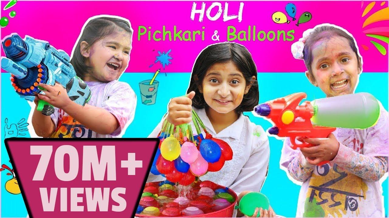 Download Pretend Play Holi Pichkari, Balloons, Color & Gadgets | ToyStars
