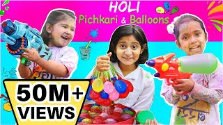 Pretend Play Holi Pichkari, Balloons, Color & Gadgets | ToyStars