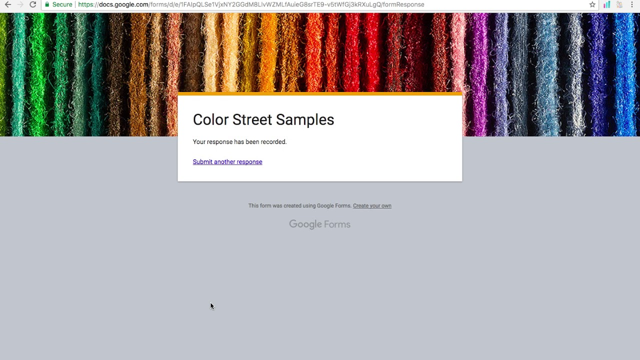 Color Street: How to create a google form tutorial - YouTube