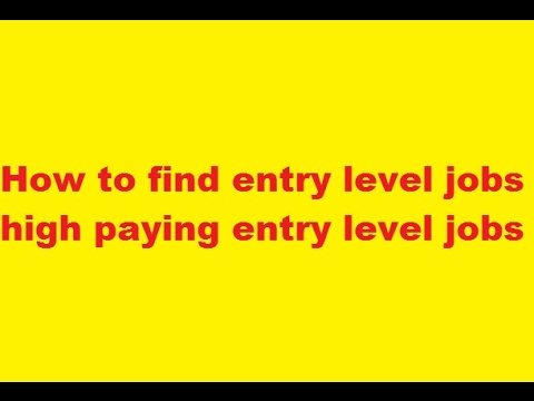 How to Get an Entry Level HR Job | high paying entry level jobs